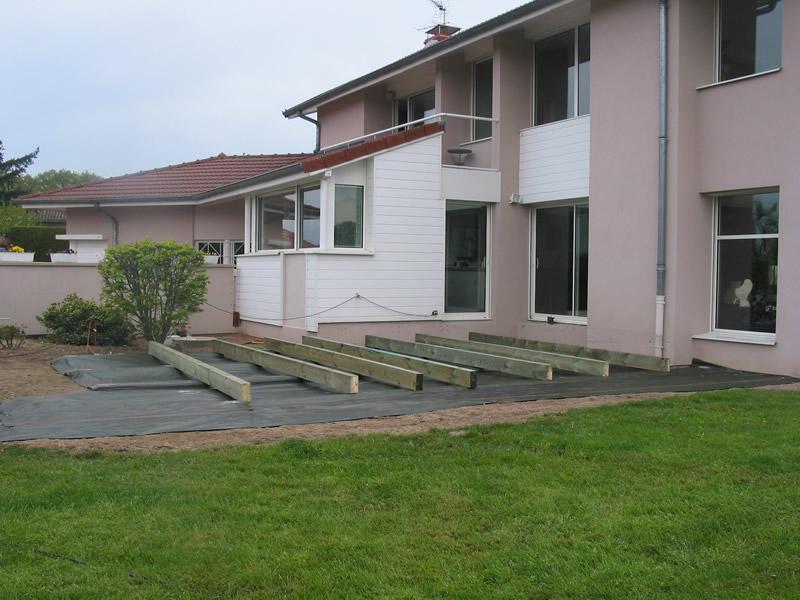 Terrasse posite gris anthracite