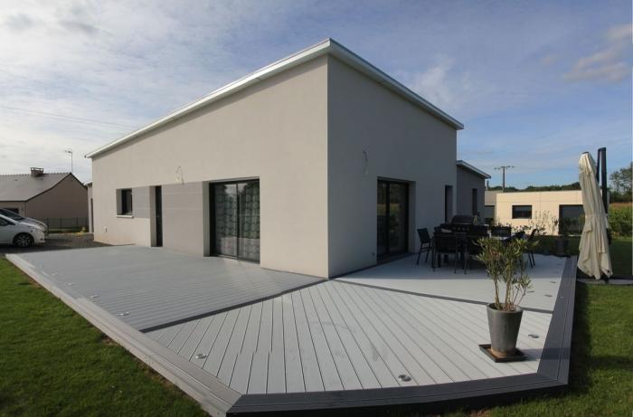 Terrasse posite gris clair