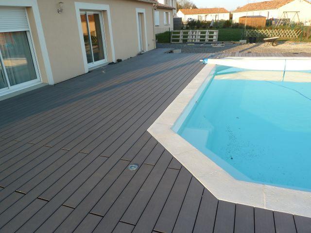Terrasse plage piscine en posite Geolam dans le 86