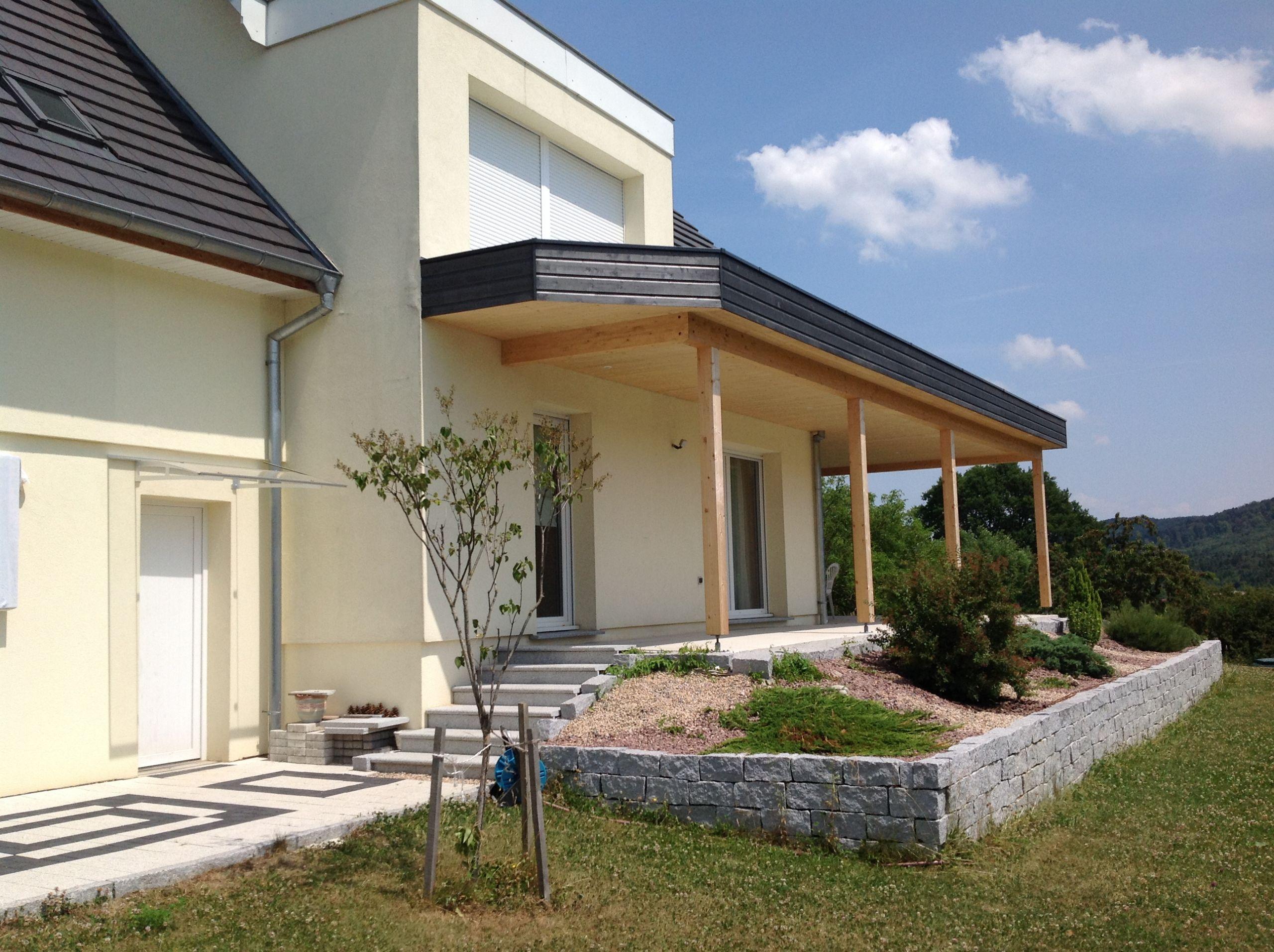 Extension Maison Terrasse Couverte terrasse couverte toit plat extension maison garage en bois