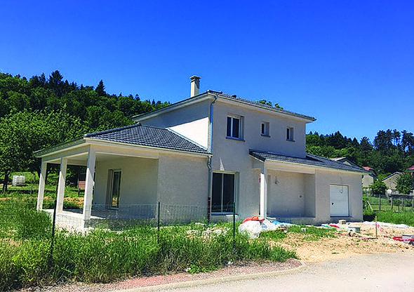 Plan de maison Maison avec une terrasse couverte