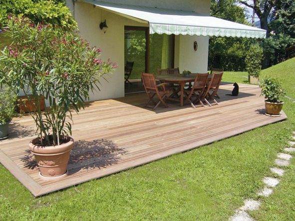 Revêtement de terrasse bois naturel ou posite