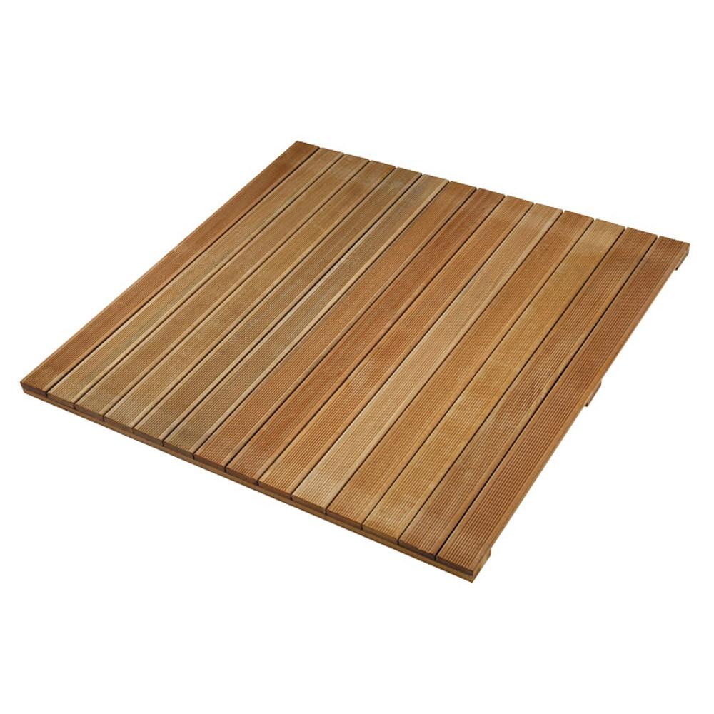 Dalle de terrasse en bois exotique 100 x 100 x 2 4 cm