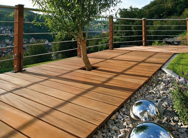 Terrasse en bois exotique le bankiraï à utilisation