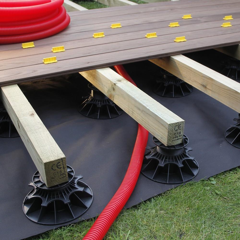 Plot pour terrasse NIVO H50 80mm Plot pour lambourdes