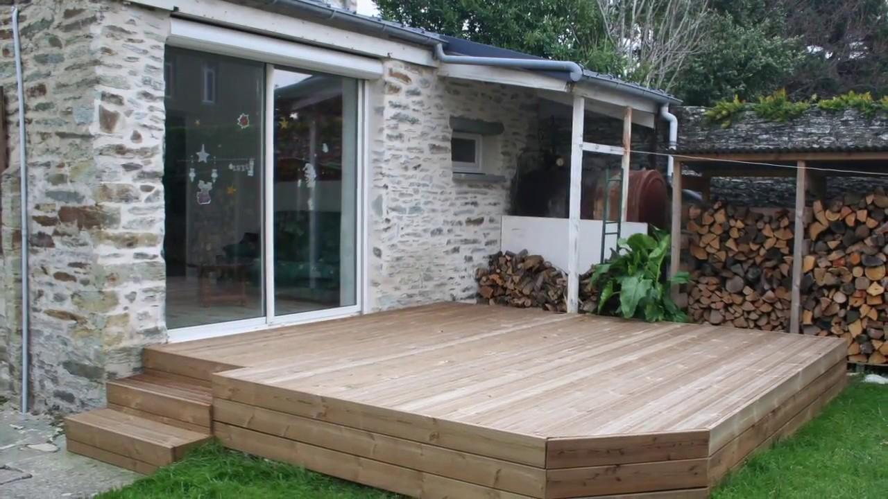 Pose terrasse en bois sur plots