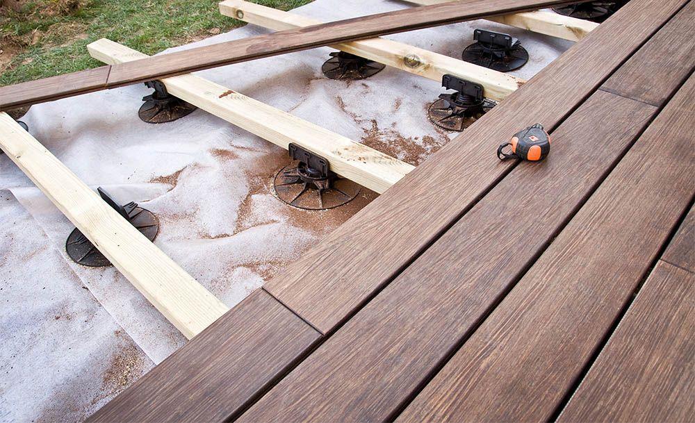 Pour une terrasse sur lambourdes ou en dalles quel est le