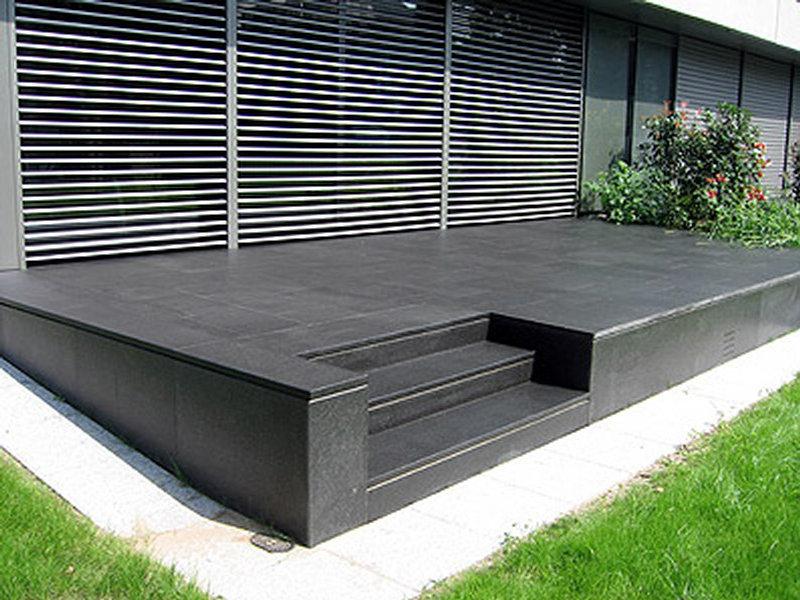 Terrasse En Granit Dallage Extérieur Agencement Pierres