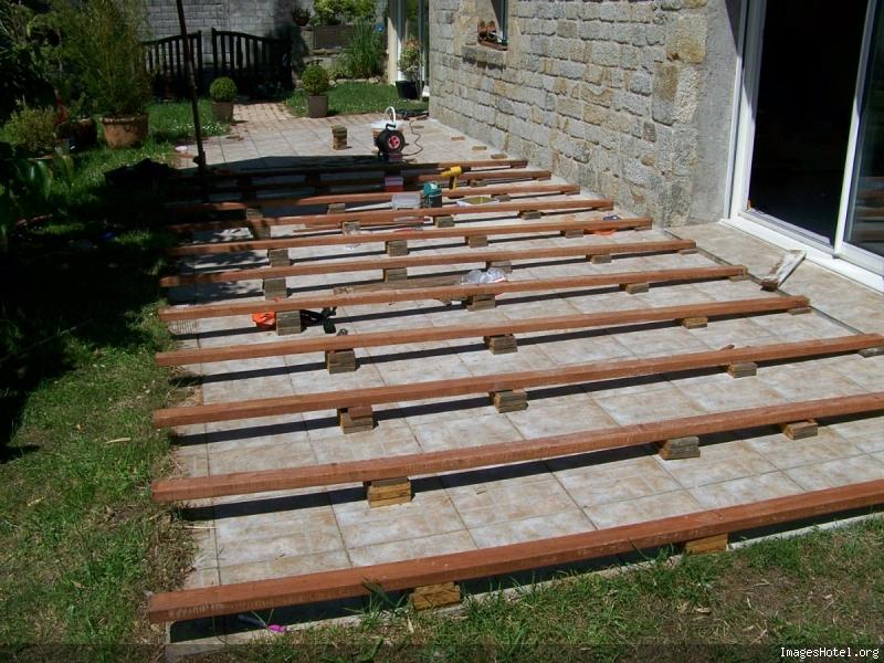 Construction d une terrasse en IPE en Bretagne