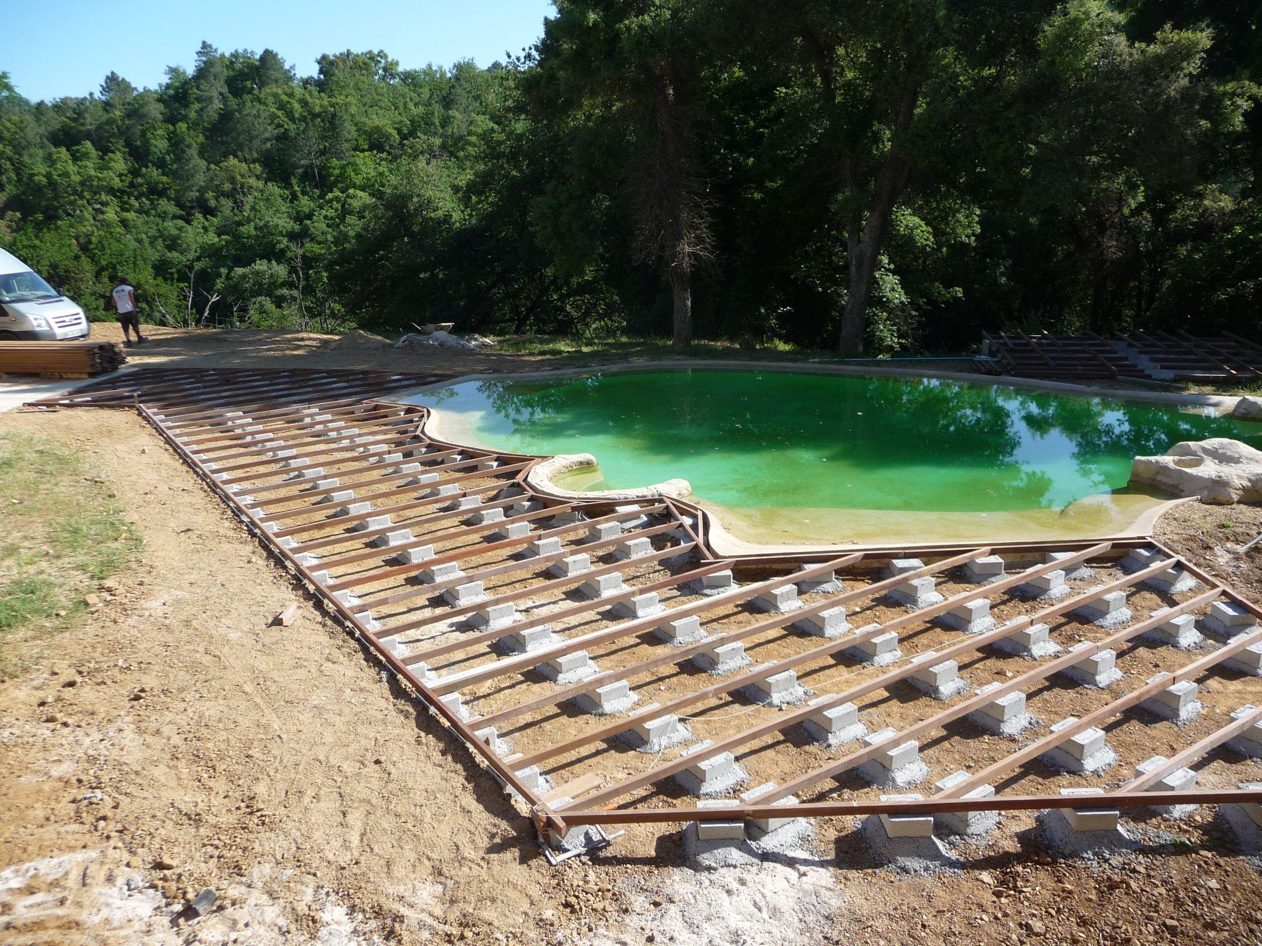 Générale Construction terrasse de piscine en IPE