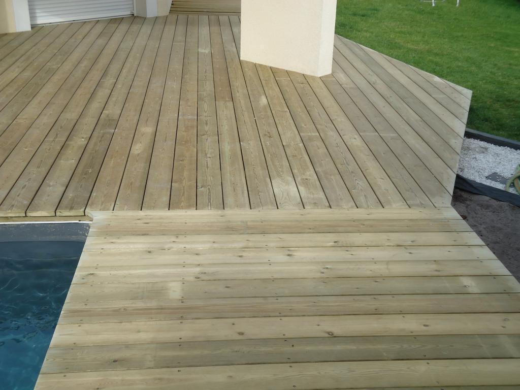 tour de piscine en bois pose terrasse bois Landes