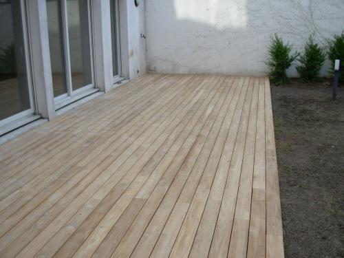 Lamelles de terrasse en bois exotique