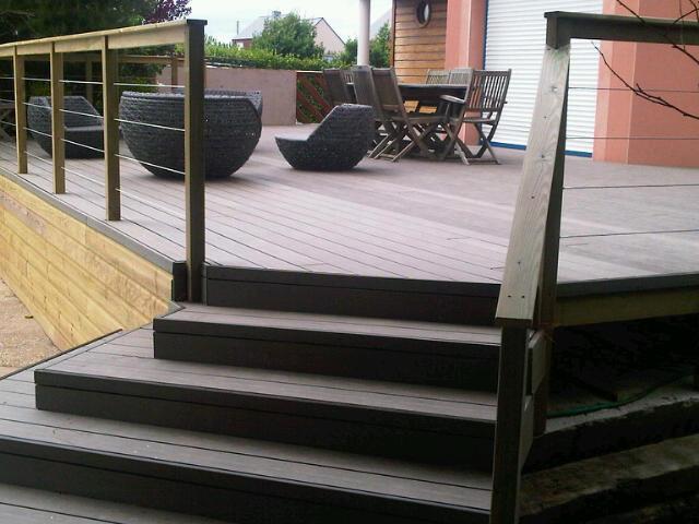 escalier bois posite