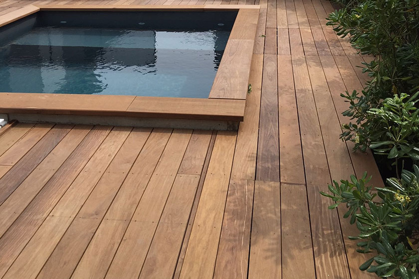 Terrasse Ipe Piscine Terrasse En Bois Exotique Ipe Nature Bois Concept