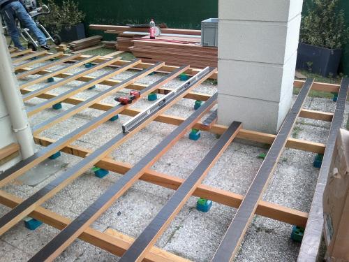 Cales pour terrasses en bois