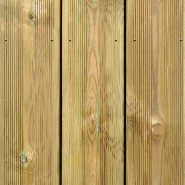 Lames de terrasse 4800x145x27 mm en pin Classe 4
