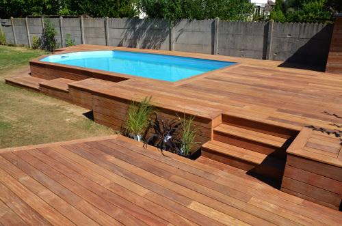 ment faire terrasse bois pour piscine hors sol ment