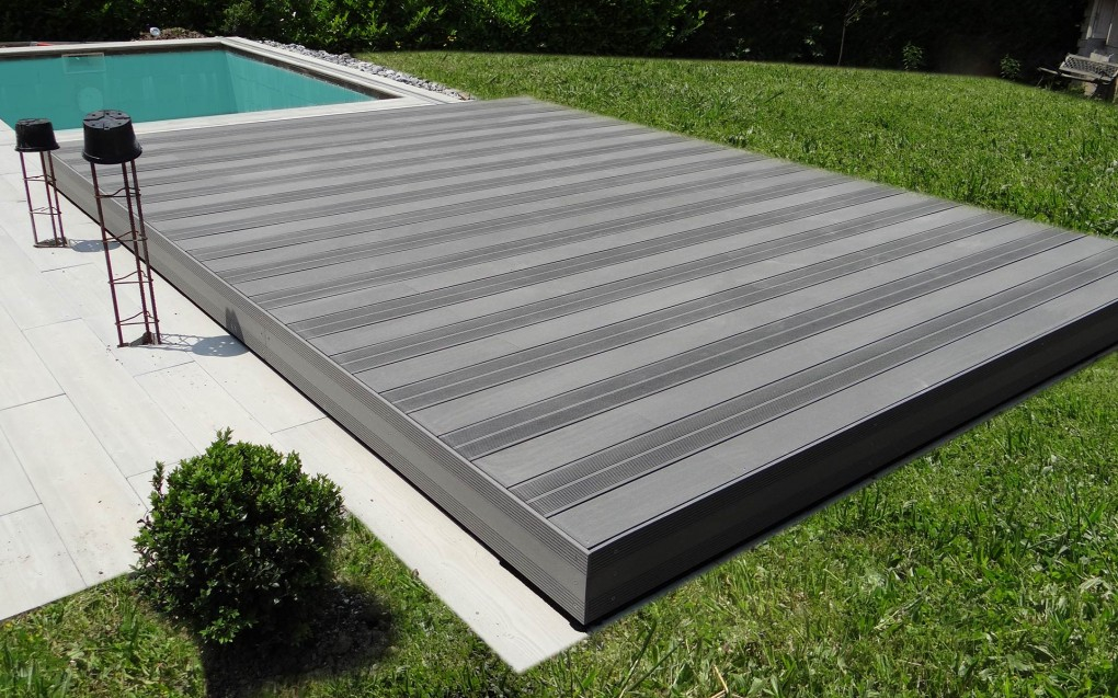 abri terrasse coulissante piscine Fond mobile pour