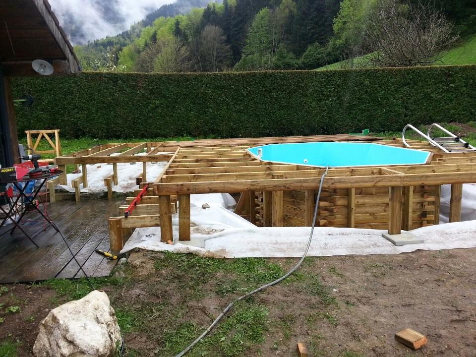 Kit terrasse bois pour piscine hors sol Mailleraye jardin