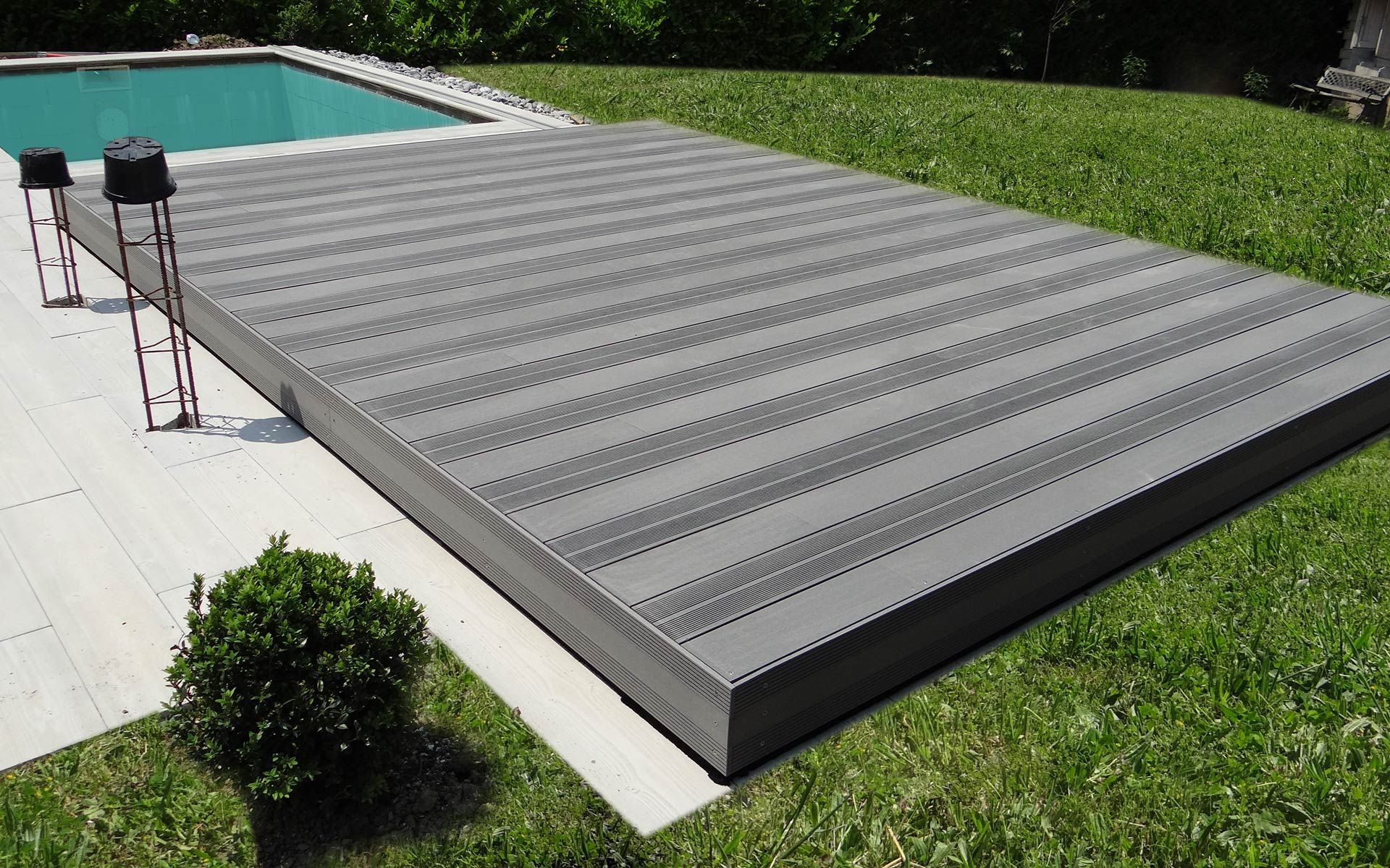plancher coulissant terrasse mobile piscine Plancher