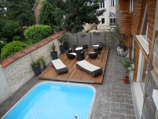 STILYS Terrasse mobile plancher coulissant pour piscine
