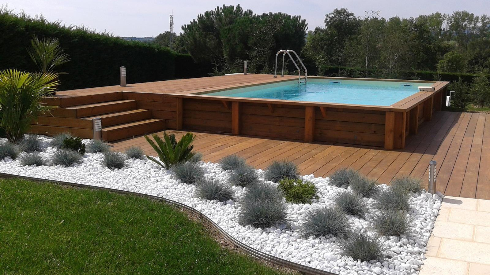 Terrasse En Bois Pour Piscine Hors Sol Terrasse En Bois