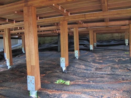 Construire une terrasse en bois sur pilotis Mailleraye