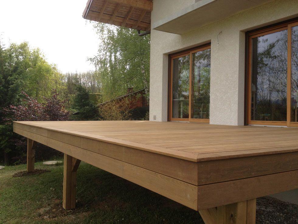 terrasse sur pilotis en bois exotique cumaru premium garde