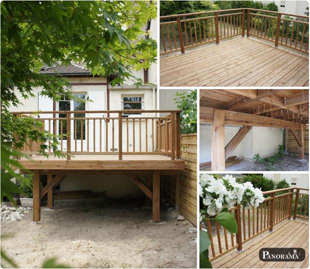Terrasse sur pilotis en bois posite Timbertech