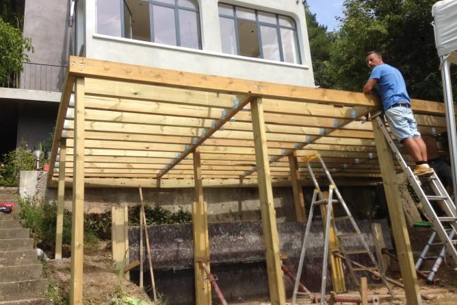 Terrasse sur pilotis veranda styledevie