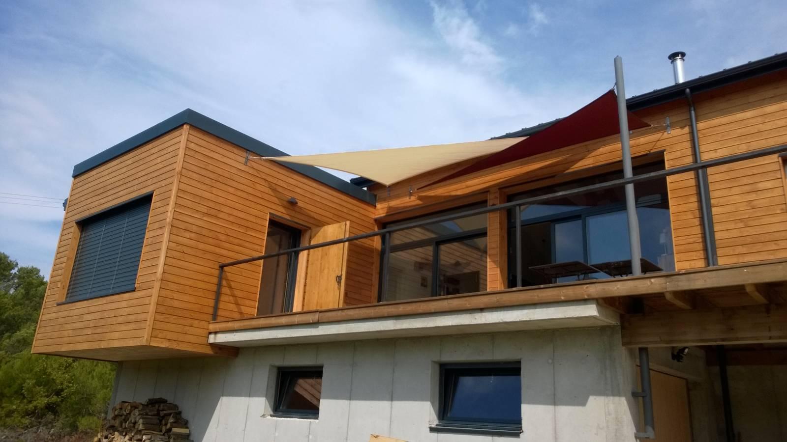 Maison ossature bois avec terrasse suspendue à Rochefort