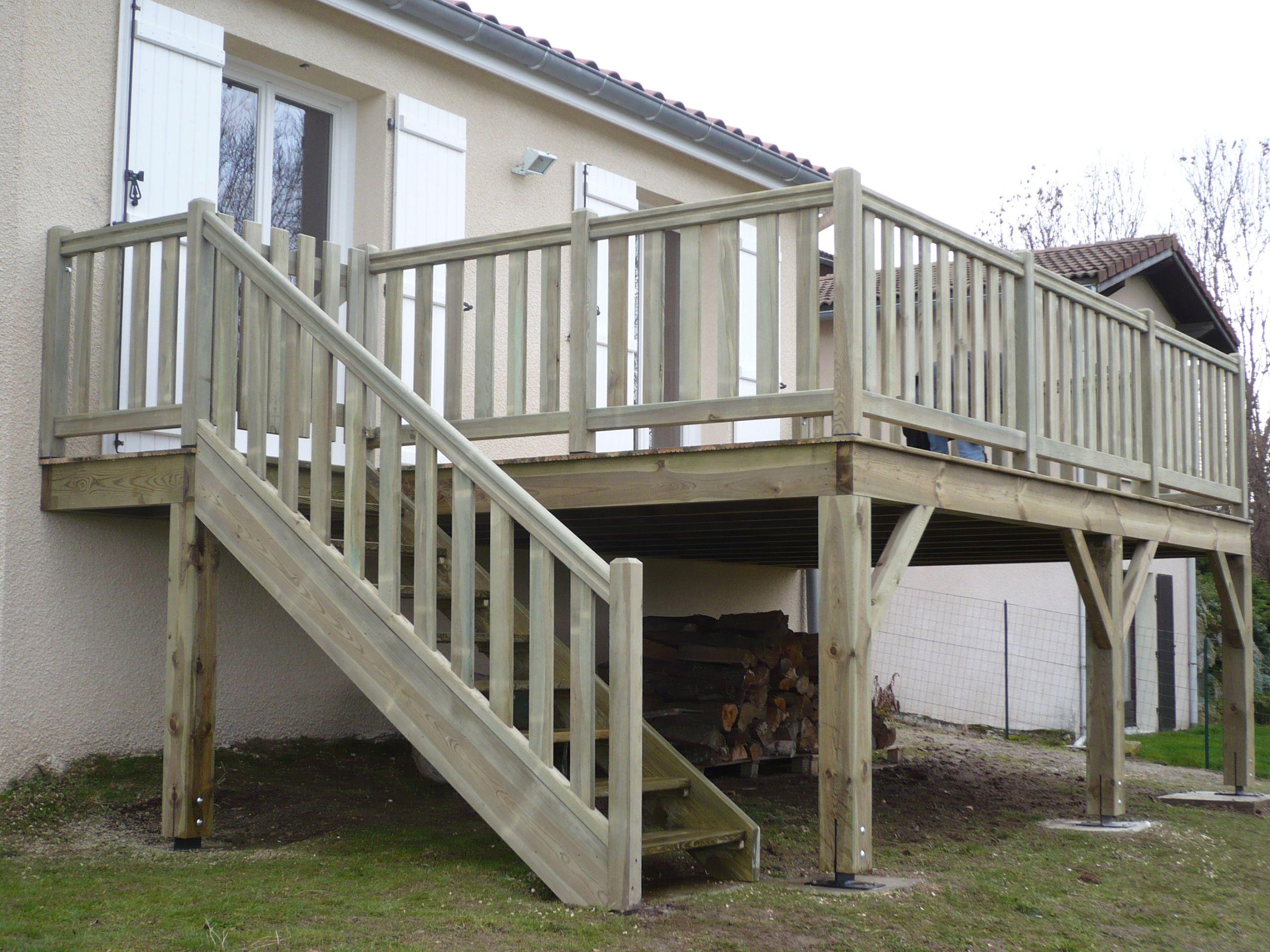 Terrasse bois en hauteur