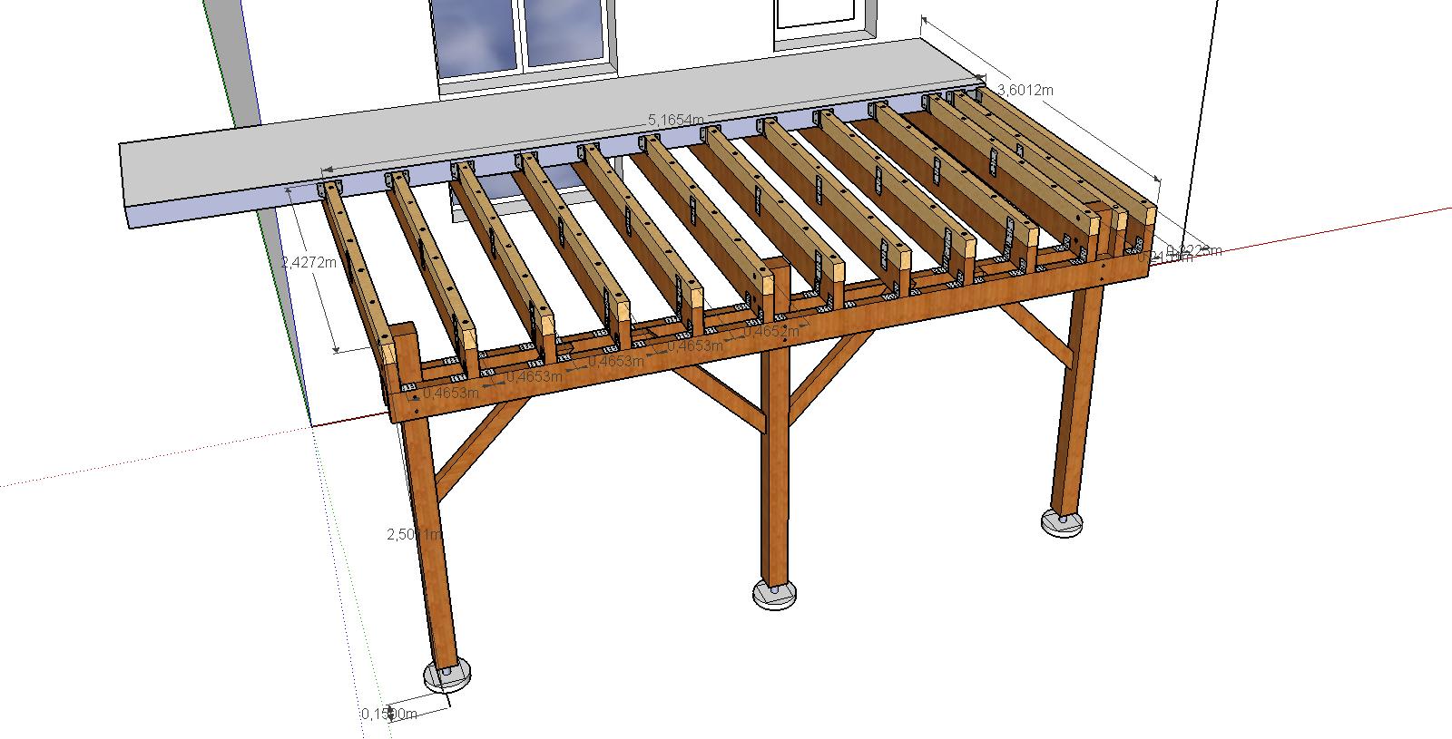 Terrasse bois suspendue prix veranda styledevie