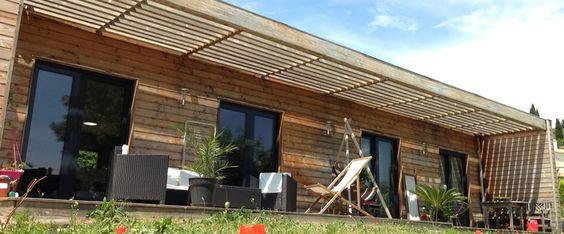 maison ossature bois maison bois contemporaine toit plat