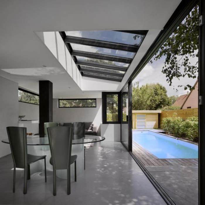 Terrasse toit Plat Schème