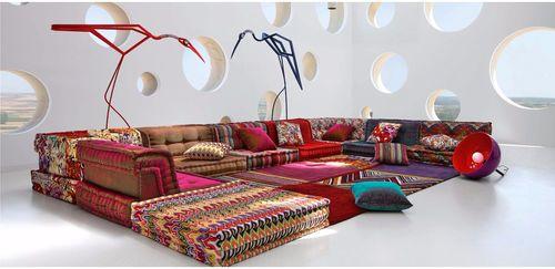 Canapé modulable contemporain en tissu MAH JONG by