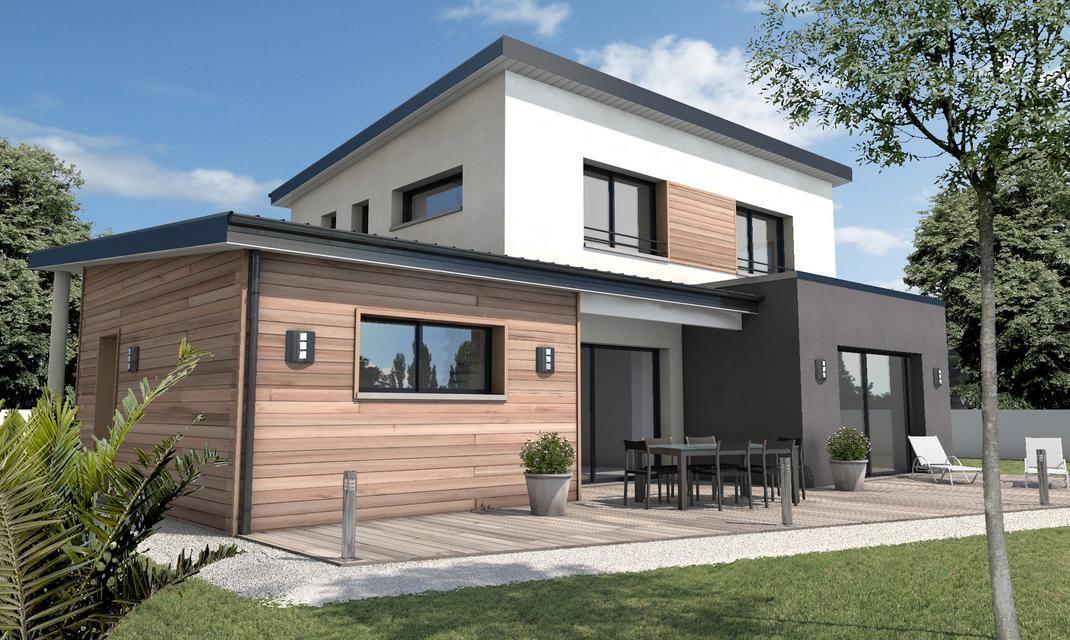 Maison cubique toiture monopente Talmont St Hilaire