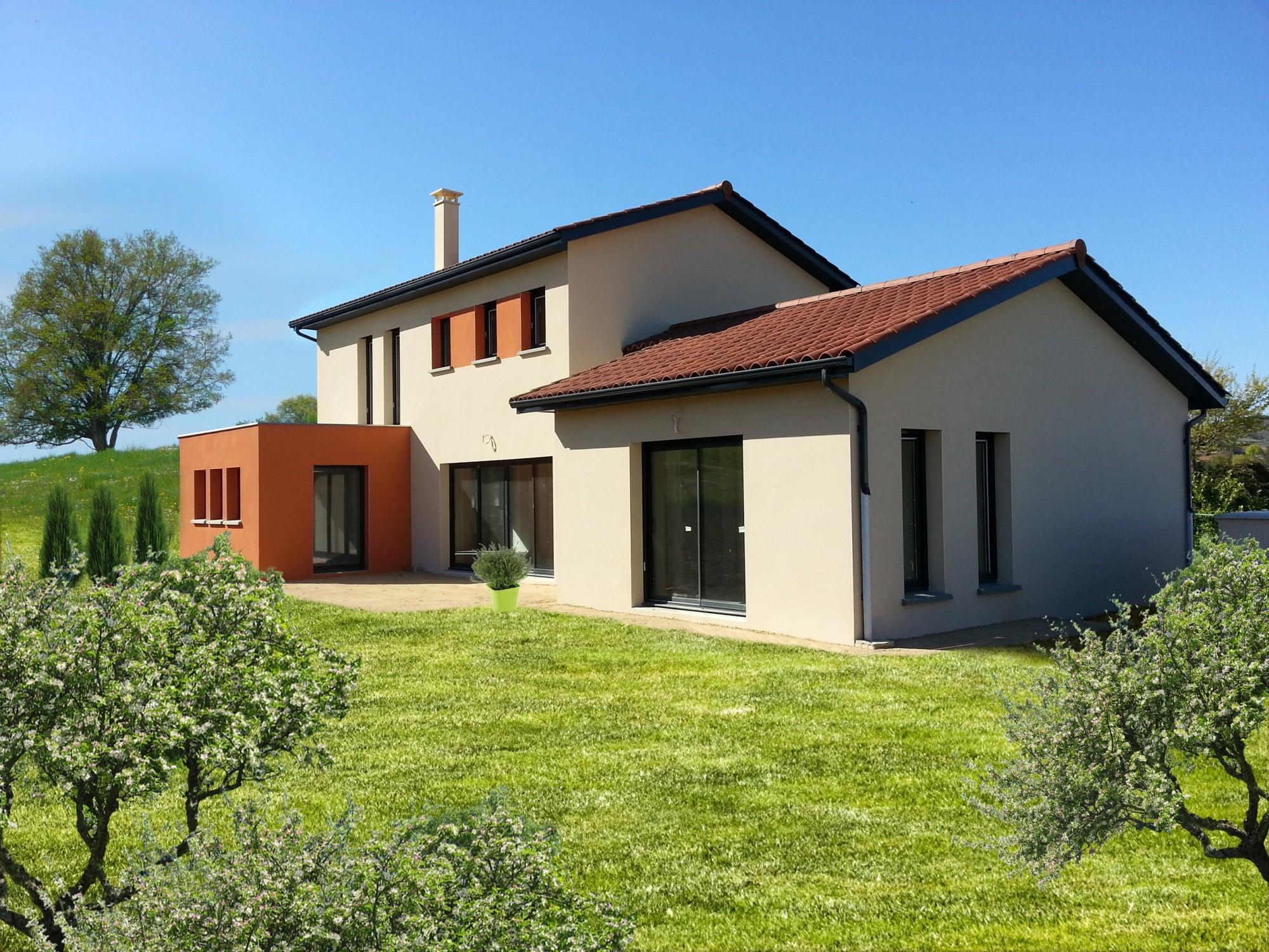 Maison mixte toit terrasse Bureau d études et architectes