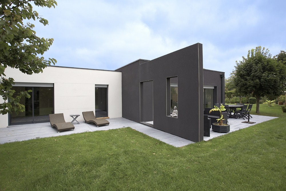 maison plain pied toit zinc