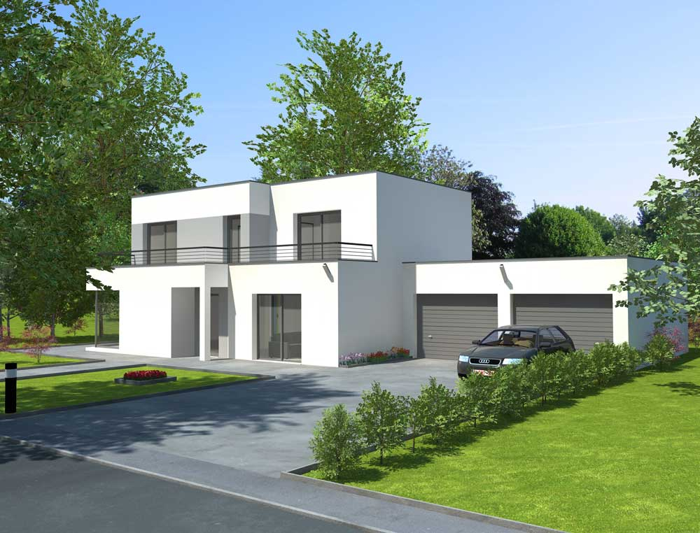 Maisons toiture terrasses Constructeur de maisons sur