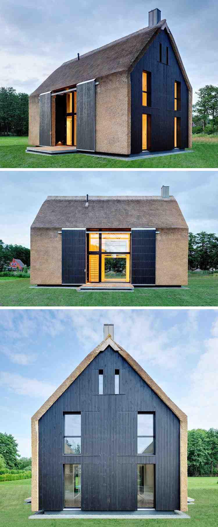 Toit de chaume – élément de l'architecture moderne unique