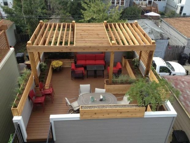 20 idées pour la pergola design sur le toit