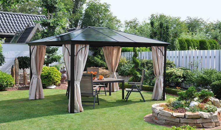 Pergola de qualit toit rigide en polycarbonate Qualit