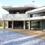 Toit En Beton Maison Contemporaine D Architecte à toiture Tuiles Noires