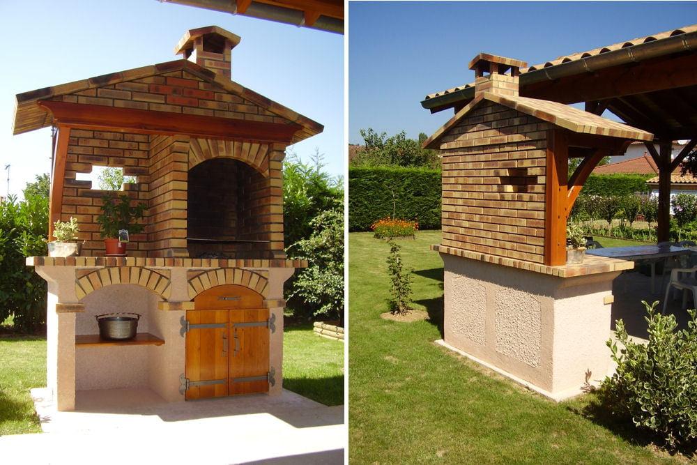 Un barbecue en briques et en béton cellulaire Les plus
