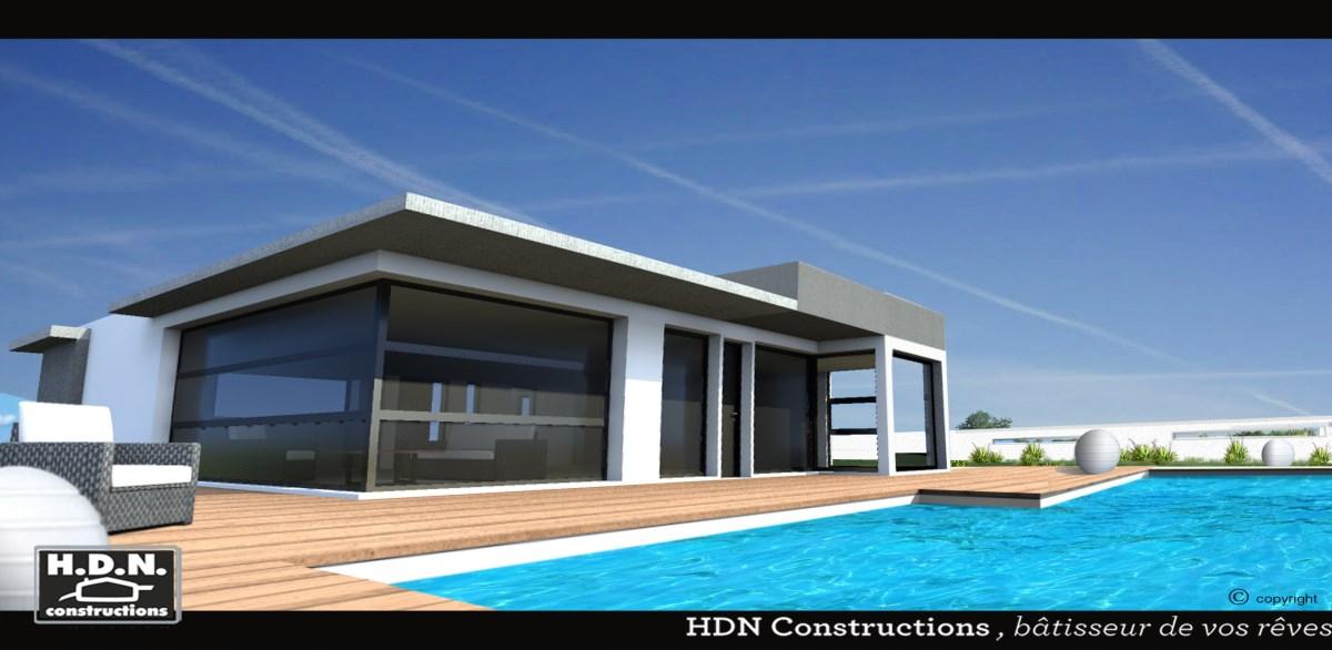 maison toit plat beton