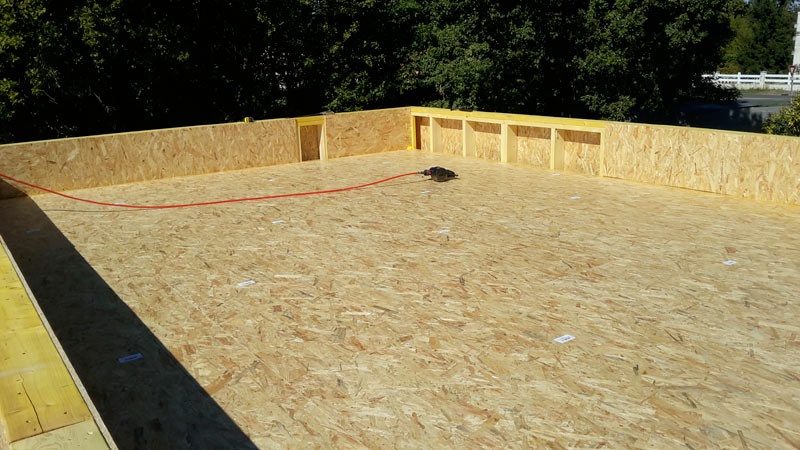 étanchéité toiture terrasse bois