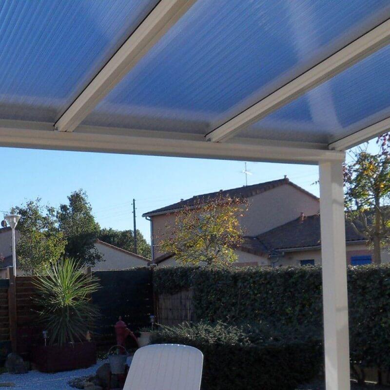 Pergola toit Polycarbonate ou Thermotop sur mesure en