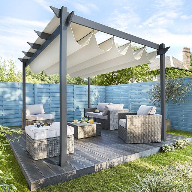 Tonnelle Clipperton toit ajustable CASTORAMA