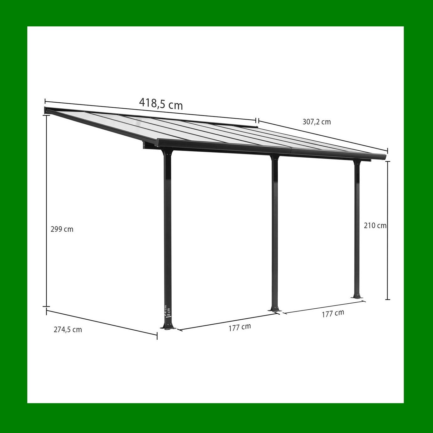 Toit Terrasse Aluminium Carport toit Terrasse En Aluminium 4x3 M Abrirama Tt3042al